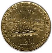 200 lires Arsenal de Taranto -  revers