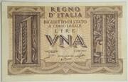 1 Lire - Victor Emanuel III – avers