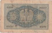 5 Lire  (Impero) – revers