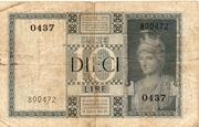 """10 Lire  """"Impero"""" – revers"""