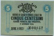 5 Centesimi (CVP - Austrian Occupation) – avers