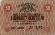 50 Centesimi (CVP - Austrian Occupation) – avers