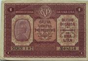 1 Lira (CVP - Austrian Occupation) – avers