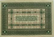 2 Lire (CVP - Austrian Occupation) – revers