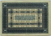 10 Lire (CVP - Austrian Occupation) – revers