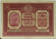 20 Lire (CVP - Austrian Occupation) – avers