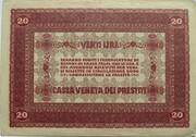 20 Lire (CVP - Austrian Occupation) – revers