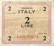 2 Lire (Allied Military Currency) – avers