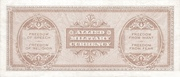 50 Lire (Allied Military Currency) – revers