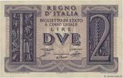 2 Lire - Victor Emanuel III – avers