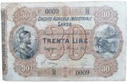 30 lire Credito Agricolo Industriale Sardo – avers