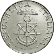 100 lires Académie navale -  avers