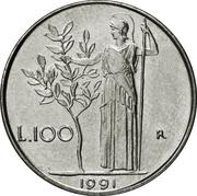 100 lires (petit module) -  revers