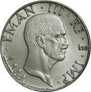 50 centesimi Victor-Emmanuel III (magnétique) – avers