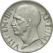 20 centesimi Victor-Emmanuel III (magnétique, striée) -  avers