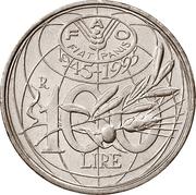 100 lires FAO (épis) -  revers
