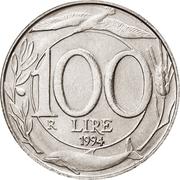 100 lires -  revers