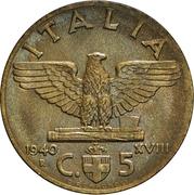 5 centesimi Victor-Emmanuel III (bronze-aluminium) – revers