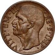 10 centesimi Victor-Emmanuel III (cuivre) – avers