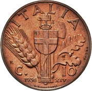 10 centesimi - Vittorio Emanuele III (1er type, essai) – revers