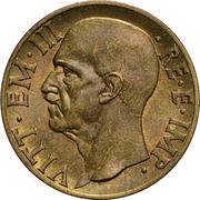 10 centesimi Victor-Emmanuel III (bronze aluminium) – avers