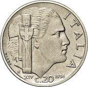 20 centesimi - Vittorio Emanuele III (Essai) – revers