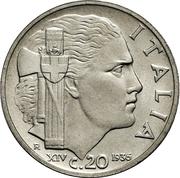 20 centesimi Victor-Emmanuel III – revers