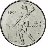 50 lires (grand module) -  revers