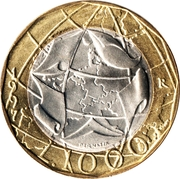 1000 lires Union européenne (RFA)  (Allemagne non réunifiée) -  revers