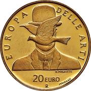 20 euros Belgique – revers
