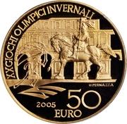 50 euros JO 2006 Emmanuel-Philibert de Savoie – revers