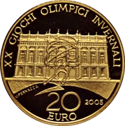 20 euros JO 2006 Palais Madame – revers