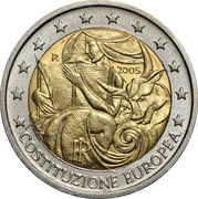 2 euros Constitution européenne -  avers