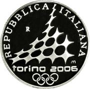 5 euros JO 2006 Ski de fond -  avers