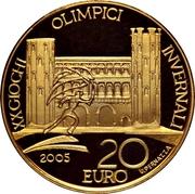 20 euros JO 2006 Porte Palatine – revers