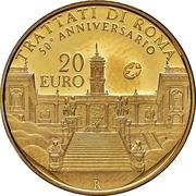 20 euros Traité de Rome – revers