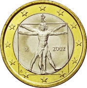 1 euro (1ère carte) -  avers