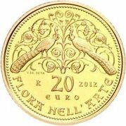 20 euros Flore dans l'art (Moyen Âge) – revers