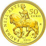 50 euros Faune dans l'art (La Renaissance) – revers