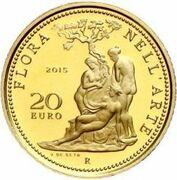 20 euros Flore dans l'art (Néo-classicisme) – revers