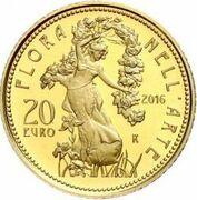 20 euros Flore dans l'art (Époque contemporaine) – revers