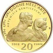 20 euros Artemisia Gentileschi – revers