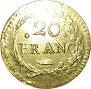 poids monétaire 20 francs – avers