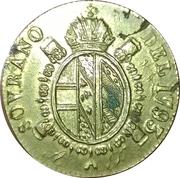 Poids monétaire Souverain d'Or François II, Milan, Lombardie – avers