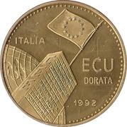 1 ECU (35ème anniversaire de la fondation de la CEE) – avers