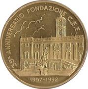 1 ECU (35ème anniversaire de la fondation de la CEE) – revers