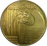 100 Lire (Mussolini Fantasy Medal) – avers