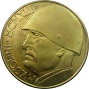 100 Lire (Mussolini Fantasy Medal) – revers