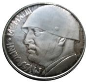 100 lires MUSSOLINI – avers