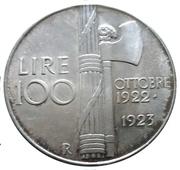 100 lires MUSSOLINI – revers